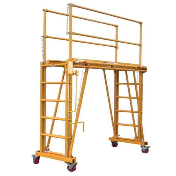 1101-22 Tele-Tower adjustable height mobile work platform / scaffolding with 22 inch deep deck