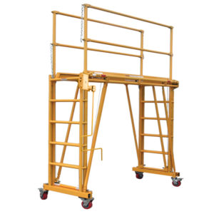 1101-2296 Tele-Tower adjustable height mobile work platform / scaffolding with 96 inch wide and 22 inch deep deck